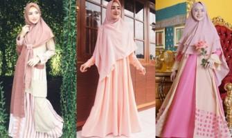 10 Inspirasi OOTD Hijab Syar'i dengan Warna Pastel ala Indri Giana