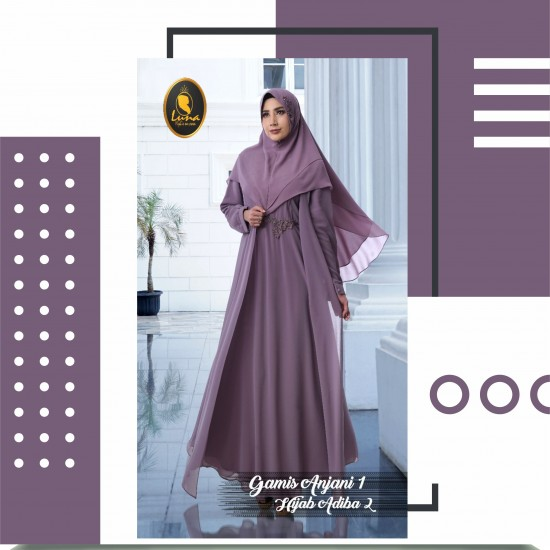 gamis anjani 1 dan hijab adiba 2