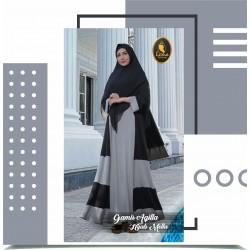 gamis aqilla dan hijab mella