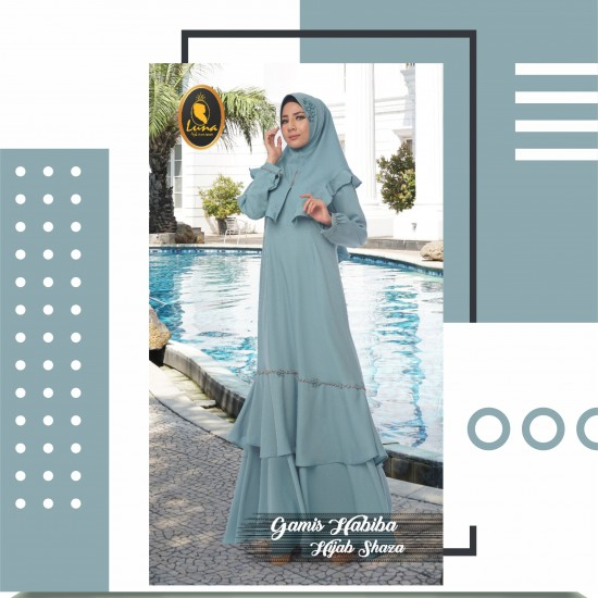 gamis habiba dan hijab shaza