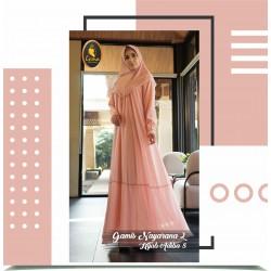 gamis nayarana 2 dan hijab adiba 8