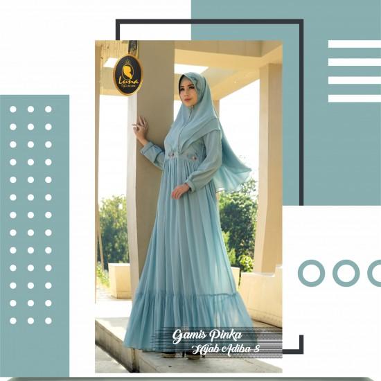 gamis pinka dan hijab adiba 8