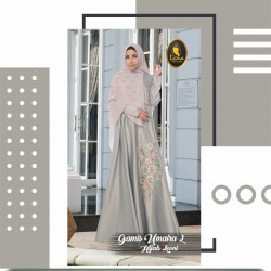 gamis umaira 2 dan hijab leoni