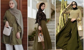 12 Ide Mix and Match Warna Army & Hijab ala Fashion Influencer, Stunning!