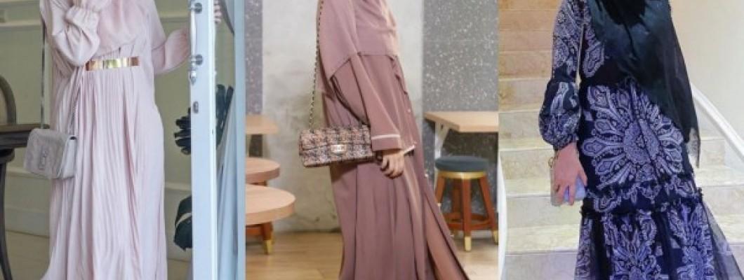 Ide Dress Pesta dengan Hijab ala Mega Iskanti, Anggun bak Dewi Yunani