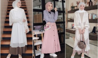 10 Ide Mix and Match Hijab & Rok Plisket ala Selebgram Meirani Amalia