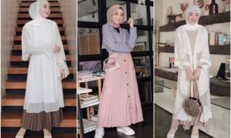 10 Ide Mix and Match Hijab & Rok Plisket ala Selebgram Meirani Amalia