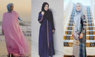 Modis & Berkelas, 10 Inspirasi Gamis Syar'i ala Dewi Sandra