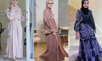 10 Inspirasi OOTD Hijab Pakai Gamis yang Elegan ala Shireen Sungkar